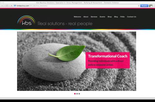 www.kimbacchus.com website screen shot